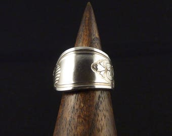 """Simple """"Lily"""" silver spoon ring"""