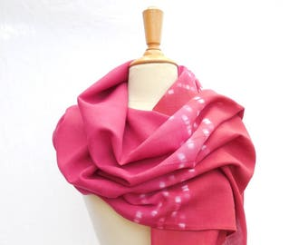 Scarf wool Bunting pink and Red