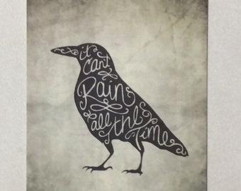 The Crow Postcard Print