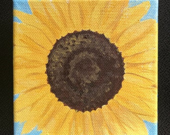 Mini Floral Painting - Sunflower