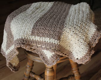 Lacy Striped Baby Blanket