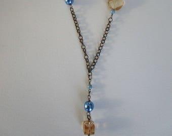 Topaz Swarovski Crystal twist necklace