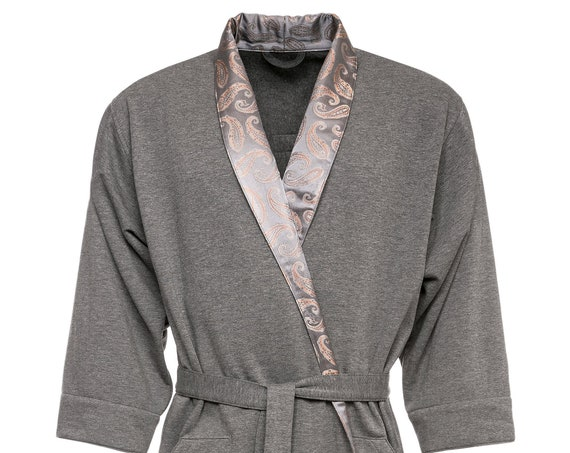 Soft, high-quality robe with natural silk edging