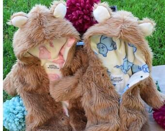Cosy Cute Teddy Bear Onesies 3-18 months