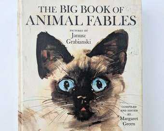 The Big Book of Animal Fables, Vintage Animal Fables Book, Vintage Children's Book, Homeschool Resources, Charlotte Mason, Living Books