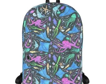 2947e6e81f Colorful Marine Life Diversity Backpack