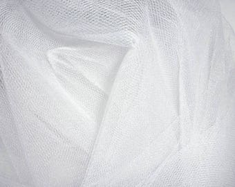Fabric soft white tulle made 280 cm wide - price per meter