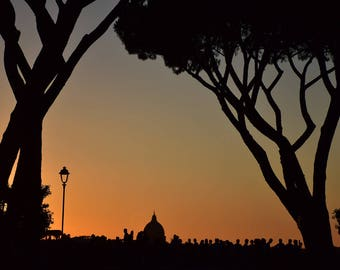 Rome photography, Italy photography, fine art photography, travel photography, sunset, Vatican, silhouette