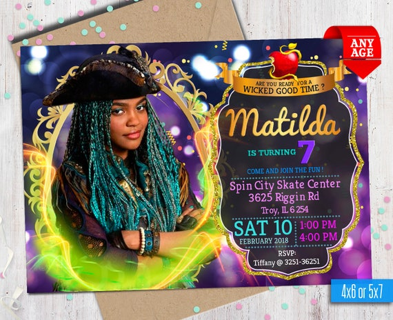 Disney Descendants 2 Uma Invitation