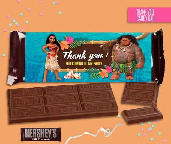moana candy bar wrappers 1 55 ozchocolate bar birthday party etsy
