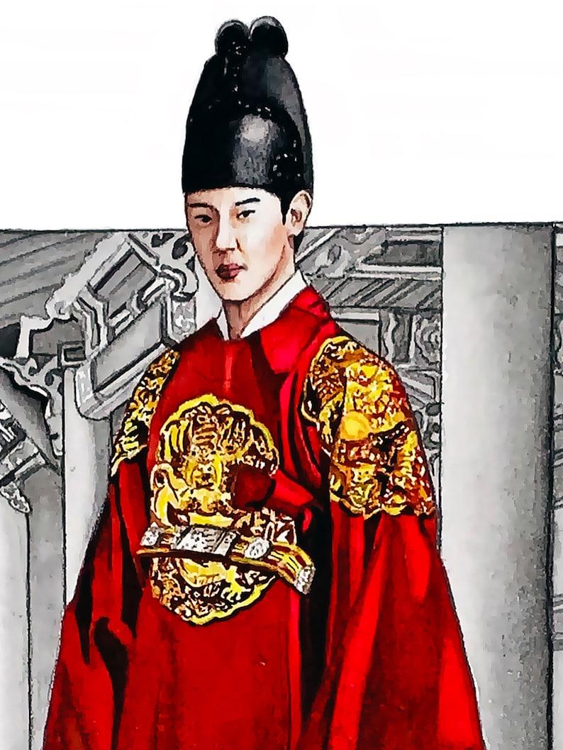 Korean Hanbok Painting Hanbok dress Watercolor Print Korea Art Print Fine Art Korean Painting Watercolor Korean Art