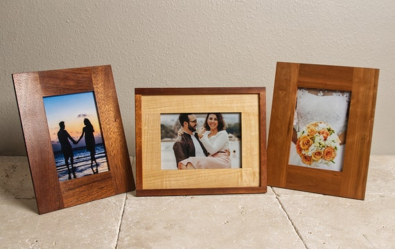 5x7 Picture Frame 5x7 Frame Wood Picture Frame Solid Etsy