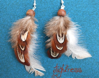 "Earrings feathers ""Brownies"""