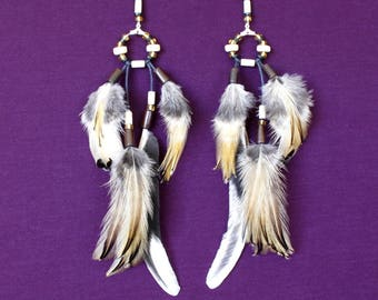 "Earrings feathers ""one thousand and one night"""