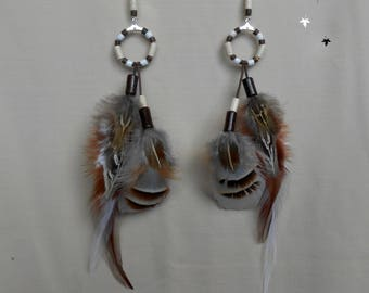 "Earrings feathers ""Divergent"""