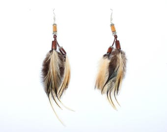 "Earrings feathers ""Wild style"""
