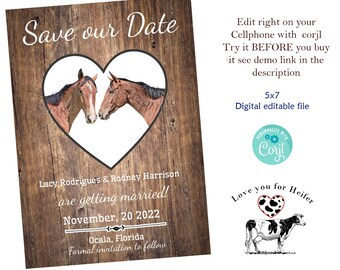 50 HORSE HORSES Invitations for Weddings or any Occasion Customized for You