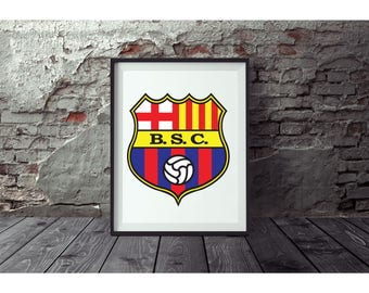Barcelona Poster  No FRAME included (Next day FREE Shipping within the USA)