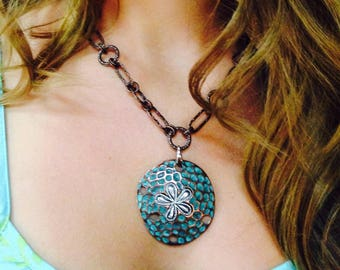 Sand Dollar Statement Necklace - Gift for Beach Lover - Statement Necklace - Unique Jewelry - Chunky Jewelry
