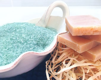 Runner's Recovery Foot Soak.  Organic Essential Oils of Fir Needle, Myrrh and Frankincense. Salt and Soap