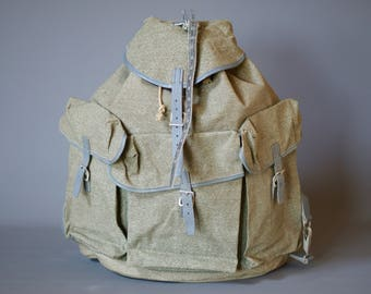 1950s Swiss Army Backpack, New Old Stock Backpack, Hiking Gear, Hiking Backpack, Swiss Army Rucksack, Swiss Military Backpack, Mens Backpack