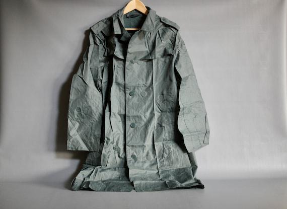SWISS ARMY RAINCOAT 1970s, Swiss Military Raincoat