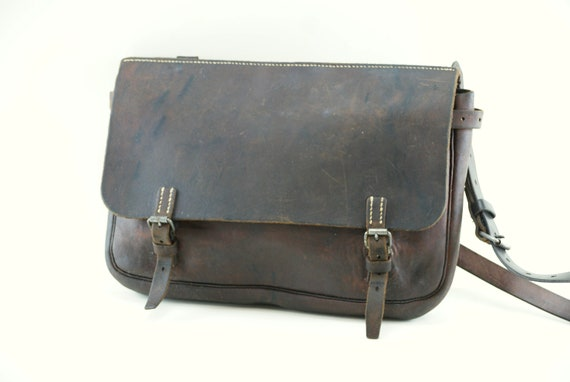 SWISS ARMY BAG Leather Shoulder Bag from 1937, Men