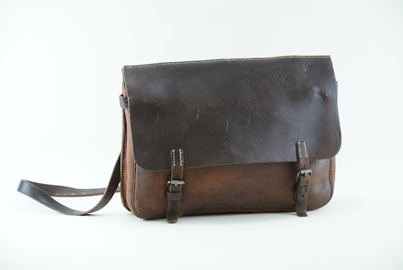 Antique Swiss Military Leather /& Canvas Bag  Ammo Bag  Shoulder Bag from 1915 103 years old