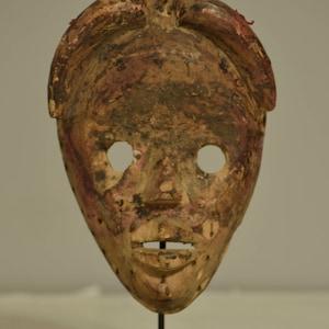 Estate sale find Javanese Tribal circa 1980s Balsa Batik JavaneseTribal Mask China Galore tribal decor