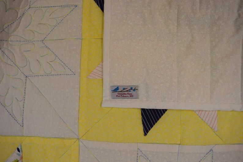 Handmade Contemporary Stars Twin Size Quilt made by a Carmelite Nun