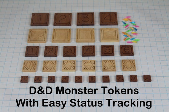 DD Monster Tokens With Easy Status Tracking