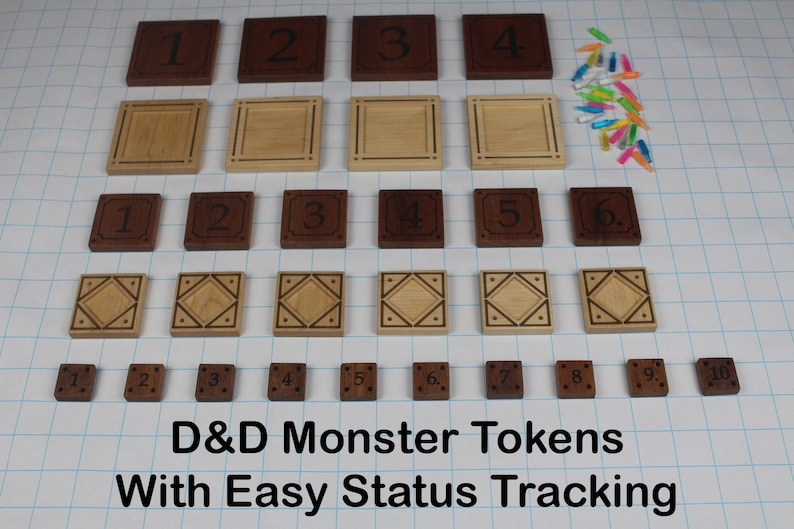 D&D Monster Tokens  With Easy Status Tracking image 0