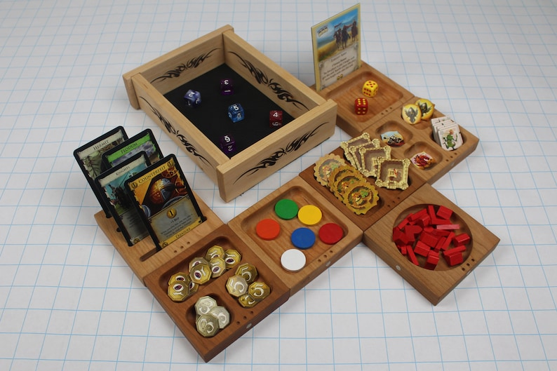 Modular Game Piece Tray System and Dice Tray image 0