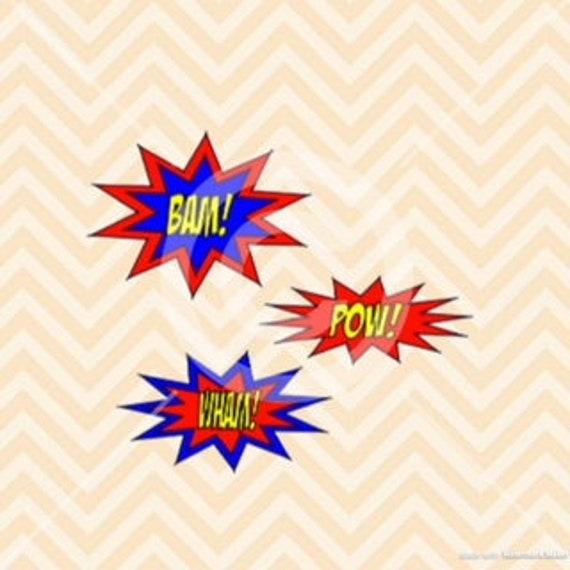 Pop Art Svg Superhero Speech Bubbles Cartoon Speech Bubbles Etsy