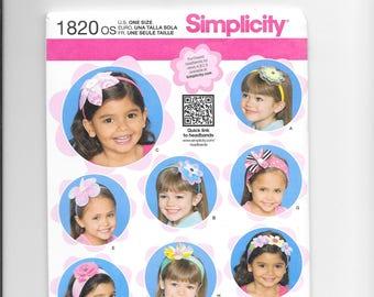 Simplicity 1820 - Headbands for Little Girls