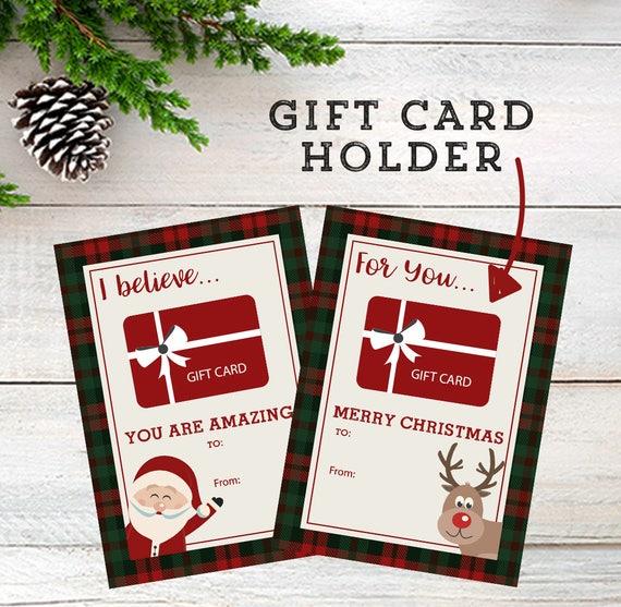 Diy Gift Card Holder Gift For Anyone Teacher Holiday Gift Etsy