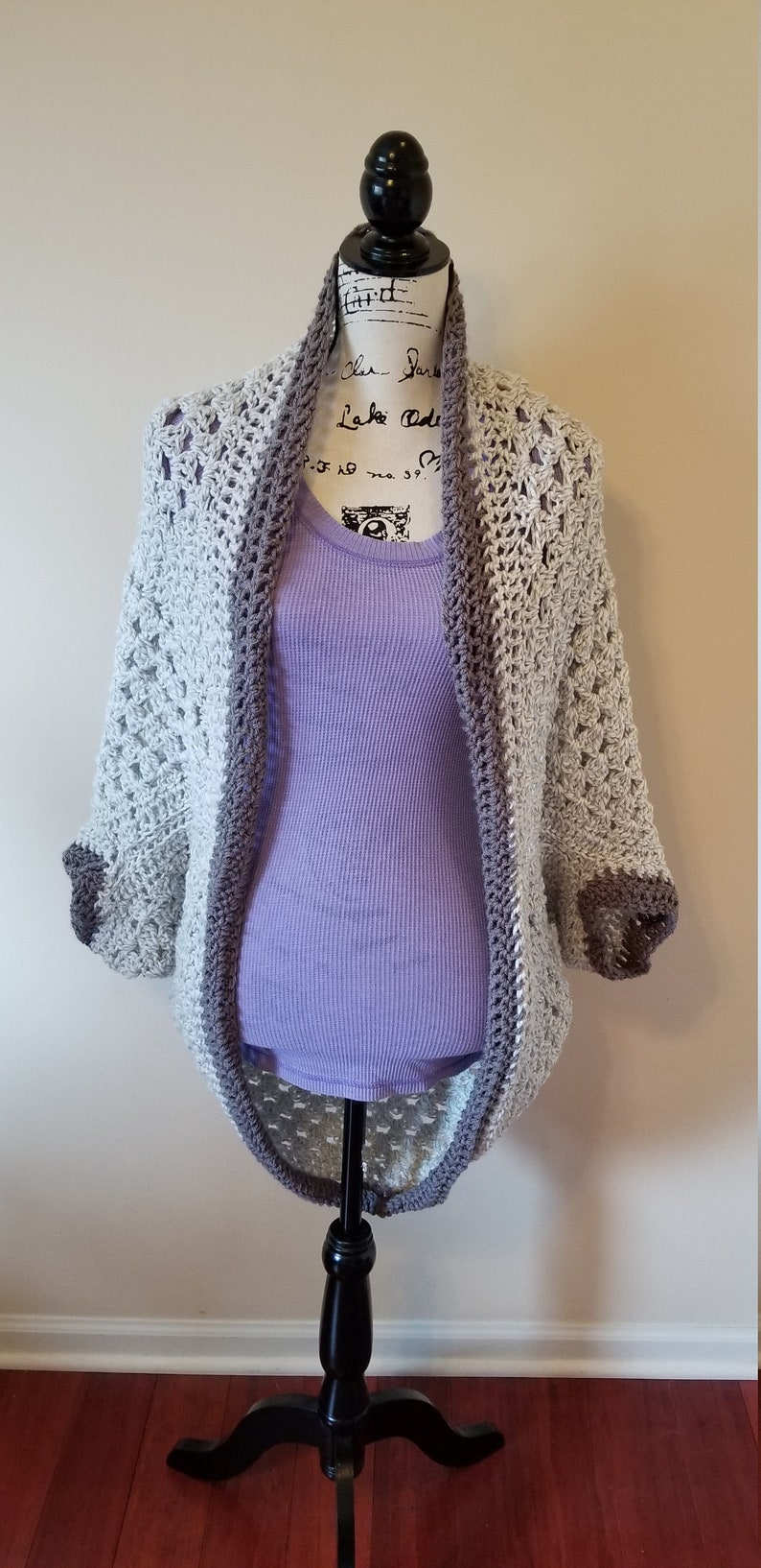 Marle Gray  Crochet Cocoon Sweater  Crochet Cocoon Cardigan  Crochet Cocoon Wrap