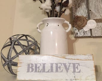 Rustic white washed pallet wood  Believe