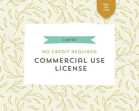 No Credit Required Commercial Use License