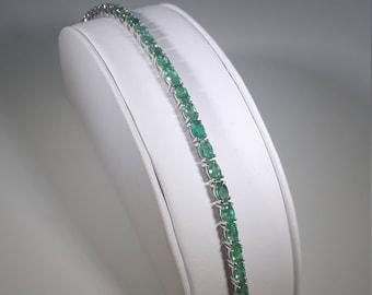 925 Silver Emerald Bracelet