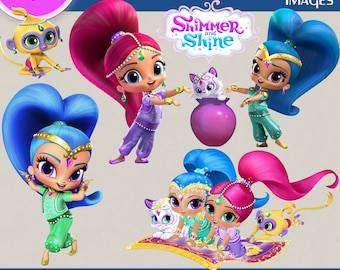 SHIMMER AND SHINE Clipart Shimmer And Shine Images Digital Transparent Backgrounds Print Printable