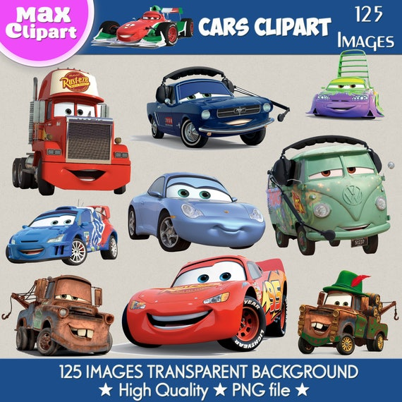 Cars Clipart Cars Png Cars Images Mcqueen Digital Clipart Etsy