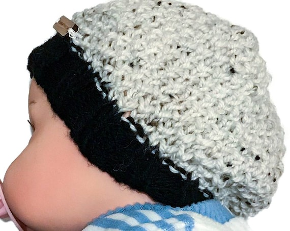 Knitted Beanie Hat Pattern Bee Stitch Baby Child Adult  16ceb82a7