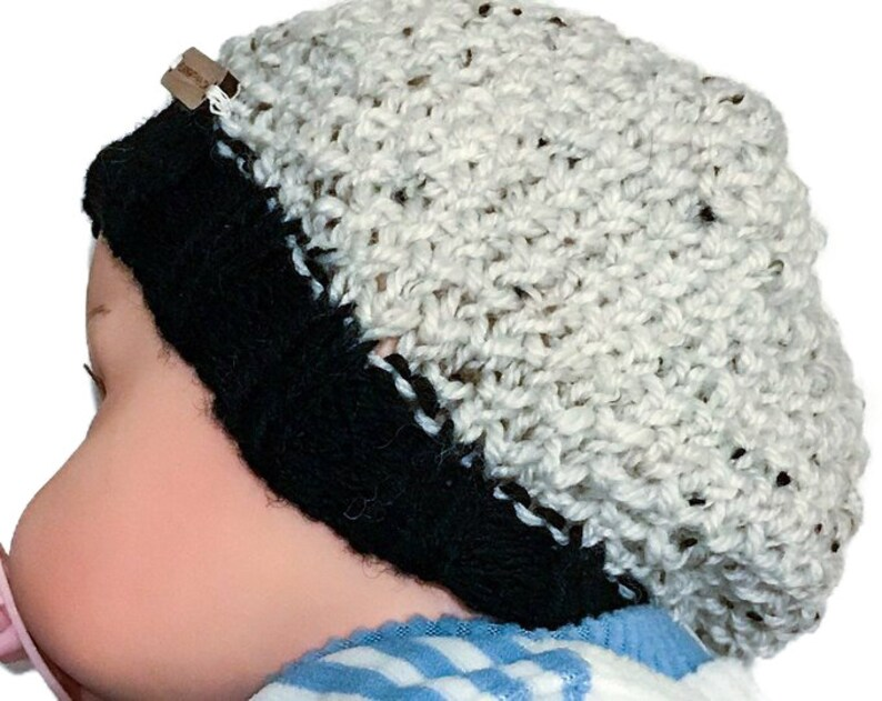 Knitted Beanie Hat Pattern Bee Stitch Baby Child Adult  8f6cc3ca304