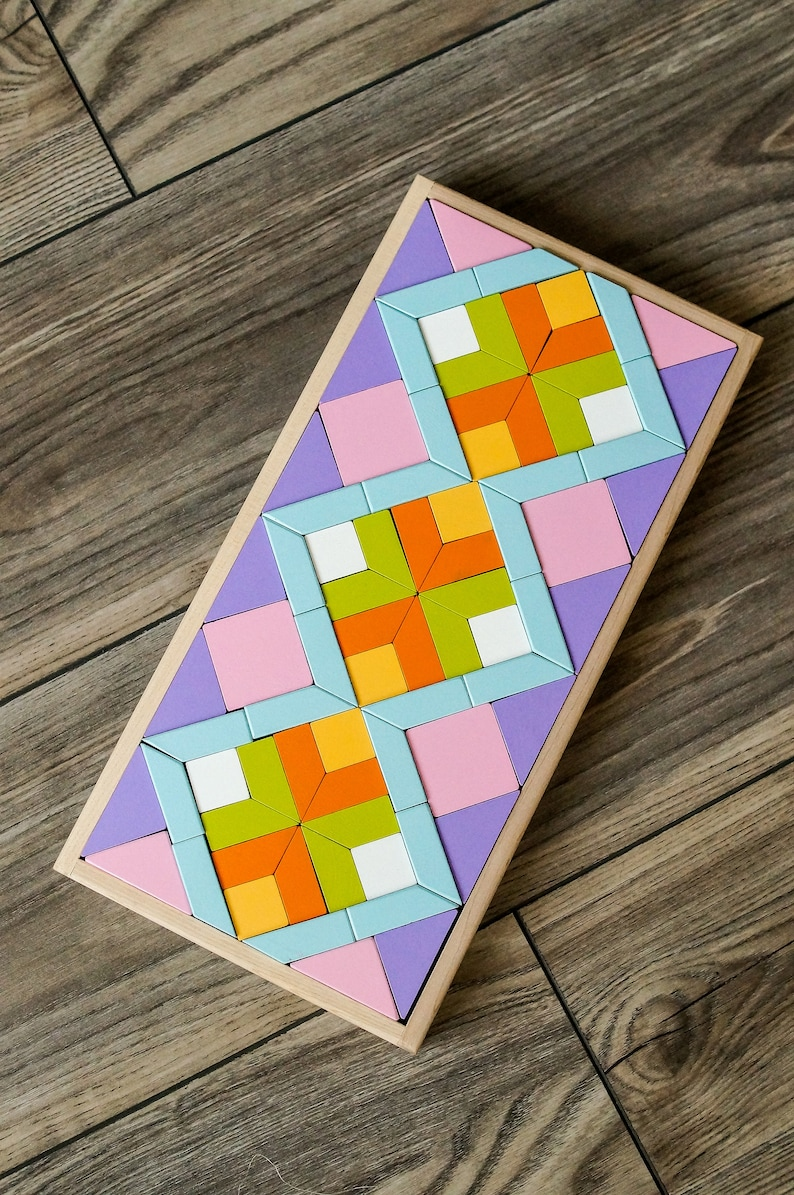 Shapes and colors puzzle toy/ educational toy / wooden toy ...