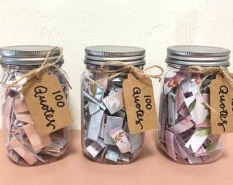 Inspirational Quote Jar – 100 Inspirational Quotes, Inspiration Gift, Thoughtful Gift, Inspiring Gift
