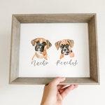 Custom Watercolor Pet Portrait | Dog portrait, dog painting, custom dog painting, dog lover gift, watercolour, personalized gift ideas