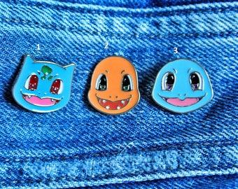 Cute little starter Pokemon pins