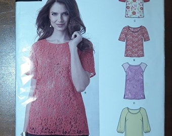 a3b82090ec447e New Look 6225 / 0911 Blouse Sewing Pattern, Uncut, Misses' Sizes 8-10-12-14-16-18,  20, top, tunic, shirt
