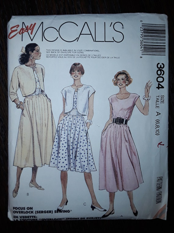 McCall/'s 6789 Misses/' Dress   Sewing Pattern